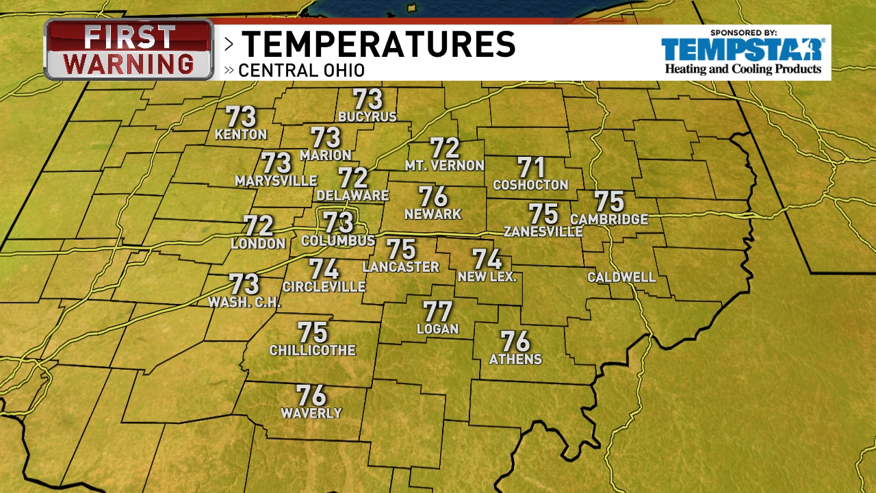 Columbus Weather News Weather Sports Breaking News WSYX - Current temperature map in us