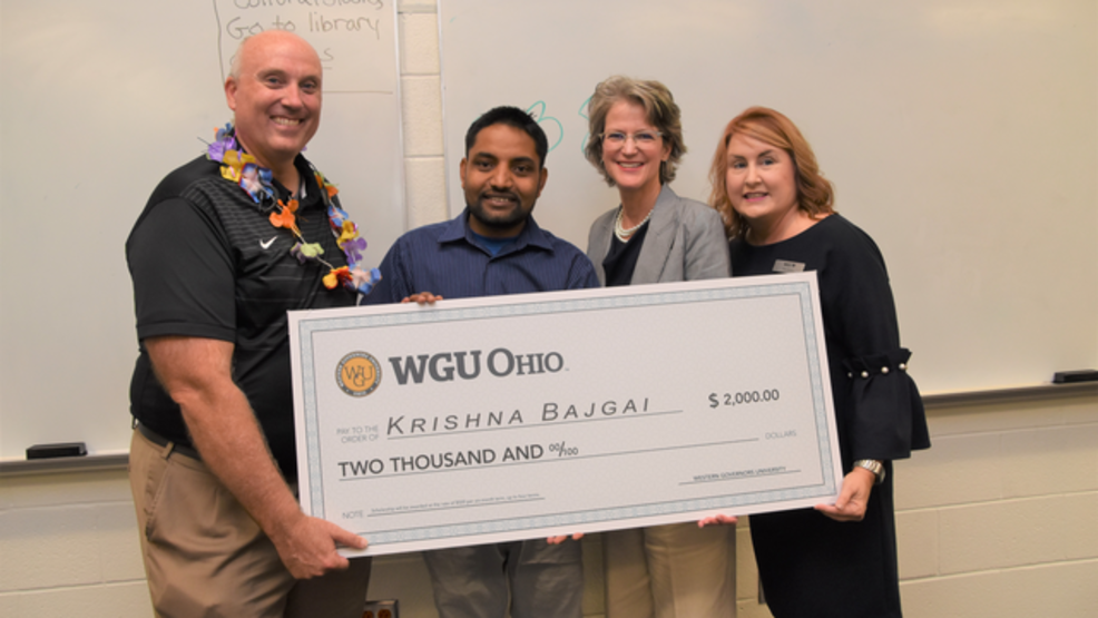 Westerville teachers aide surprised with scholarship from