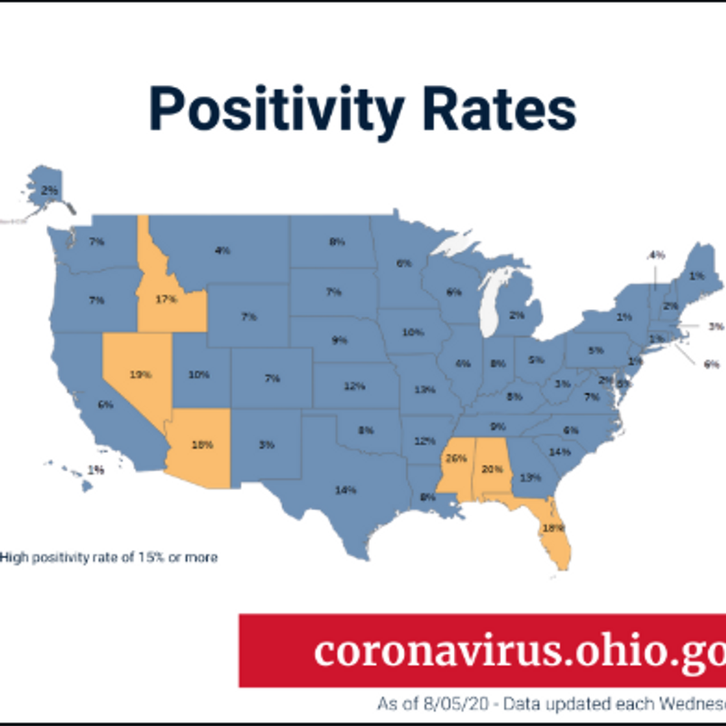 Dewine Issues Travel Advisory For States With Positive Test Rates Above 15 Wsyx