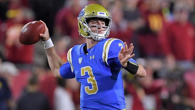 huge selection of d1904 7d59b 18, 2017 file photo, UCLA quarterback Josh Rosen passes during the first  half of an NCAA college football game against Southern California in Los  Angeles.