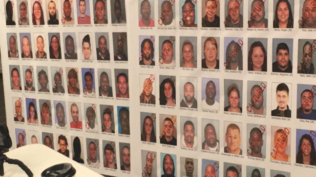 Officers arrest 43 suspects relating to drug ring in